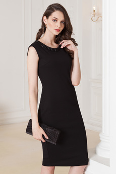 Черное платье с камнями Vilatte