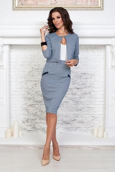 ХИТ продаж: деловой костюм: юбка карандаш и жакет с застежкой на крючок Angela Ricci